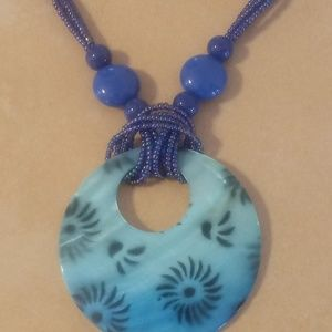 Jewelry - Summertime Blue Shell Necklace